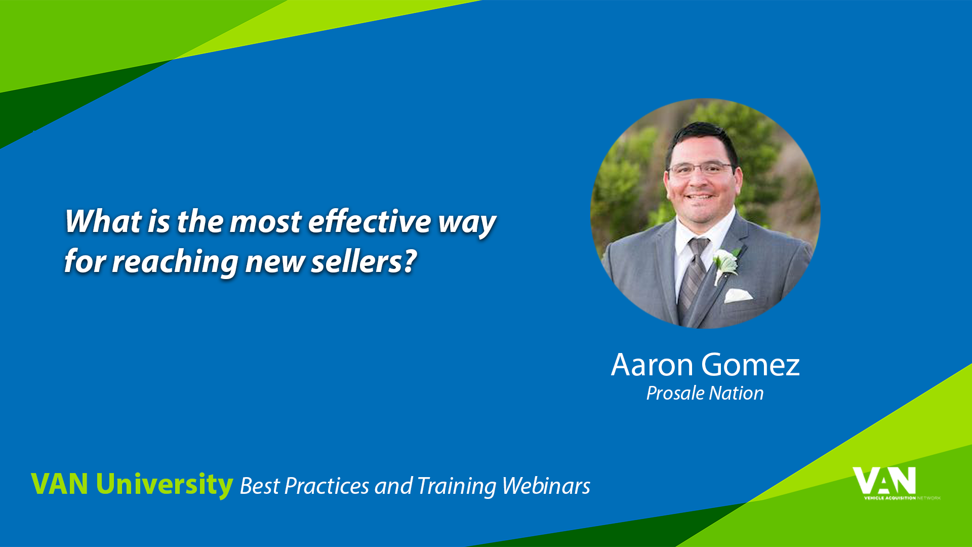 What is the most effective way to reach individual sellers?