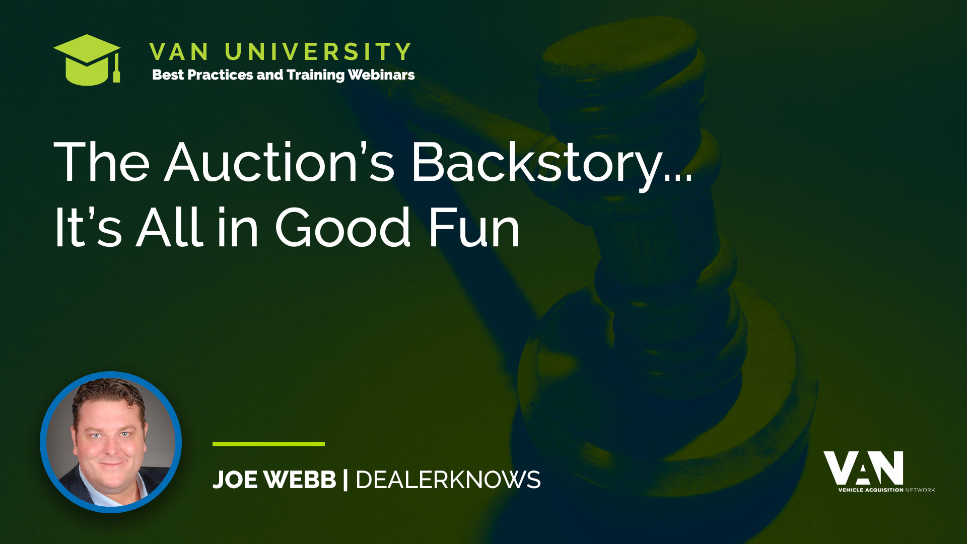 Joe Webb, Writer and Director of 'The Auction' video series