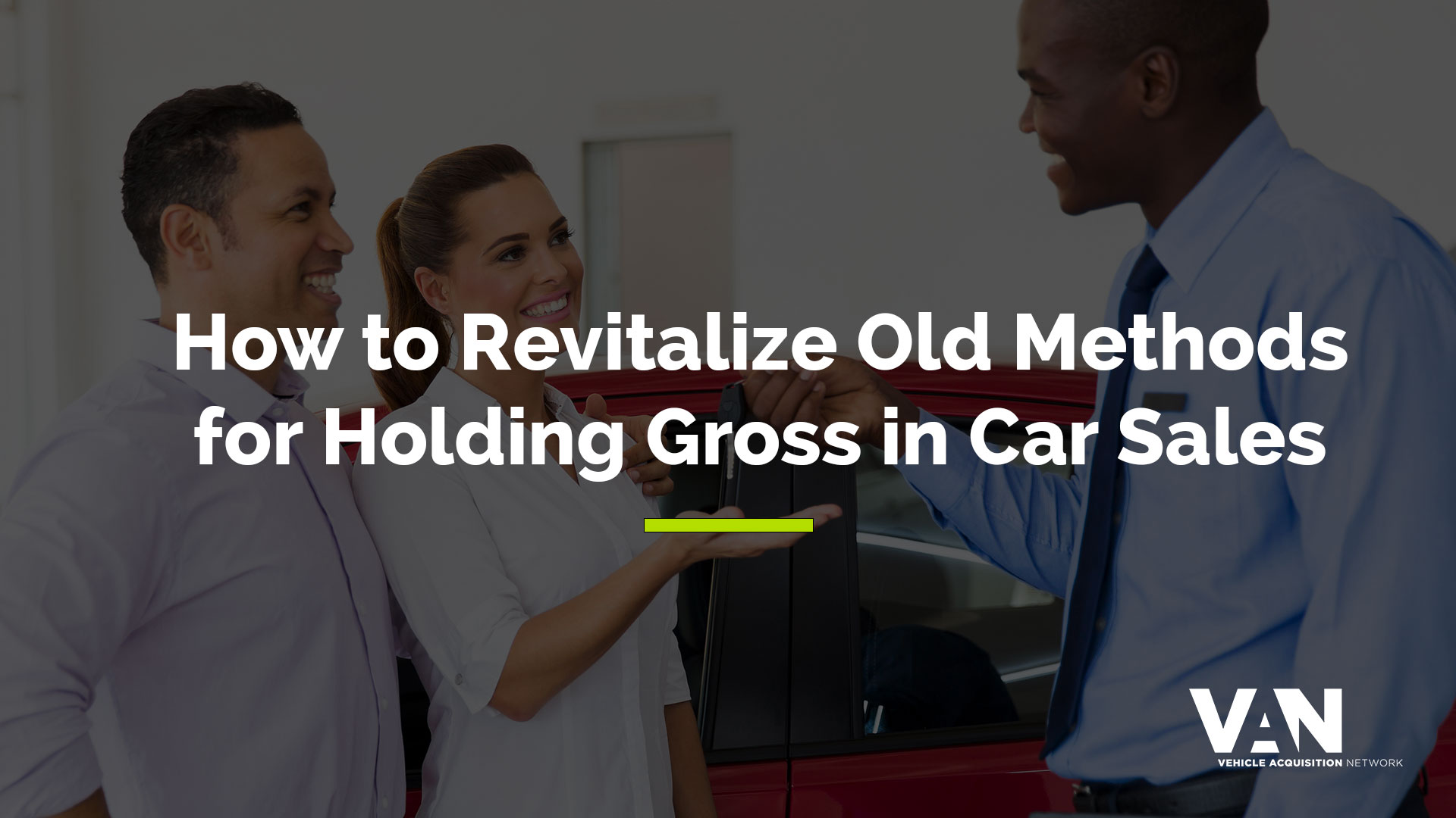 How to hold gross in car sales