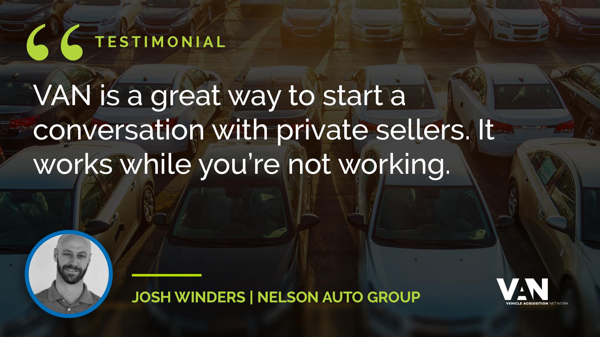 Josh Winder - Nelson Auto Group