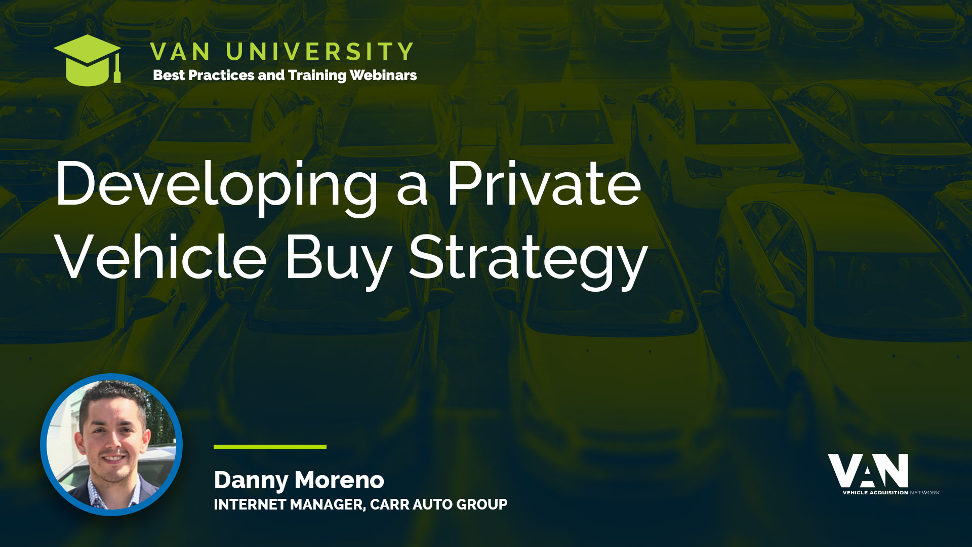 Developing a Private Vehicle Buy Strategy