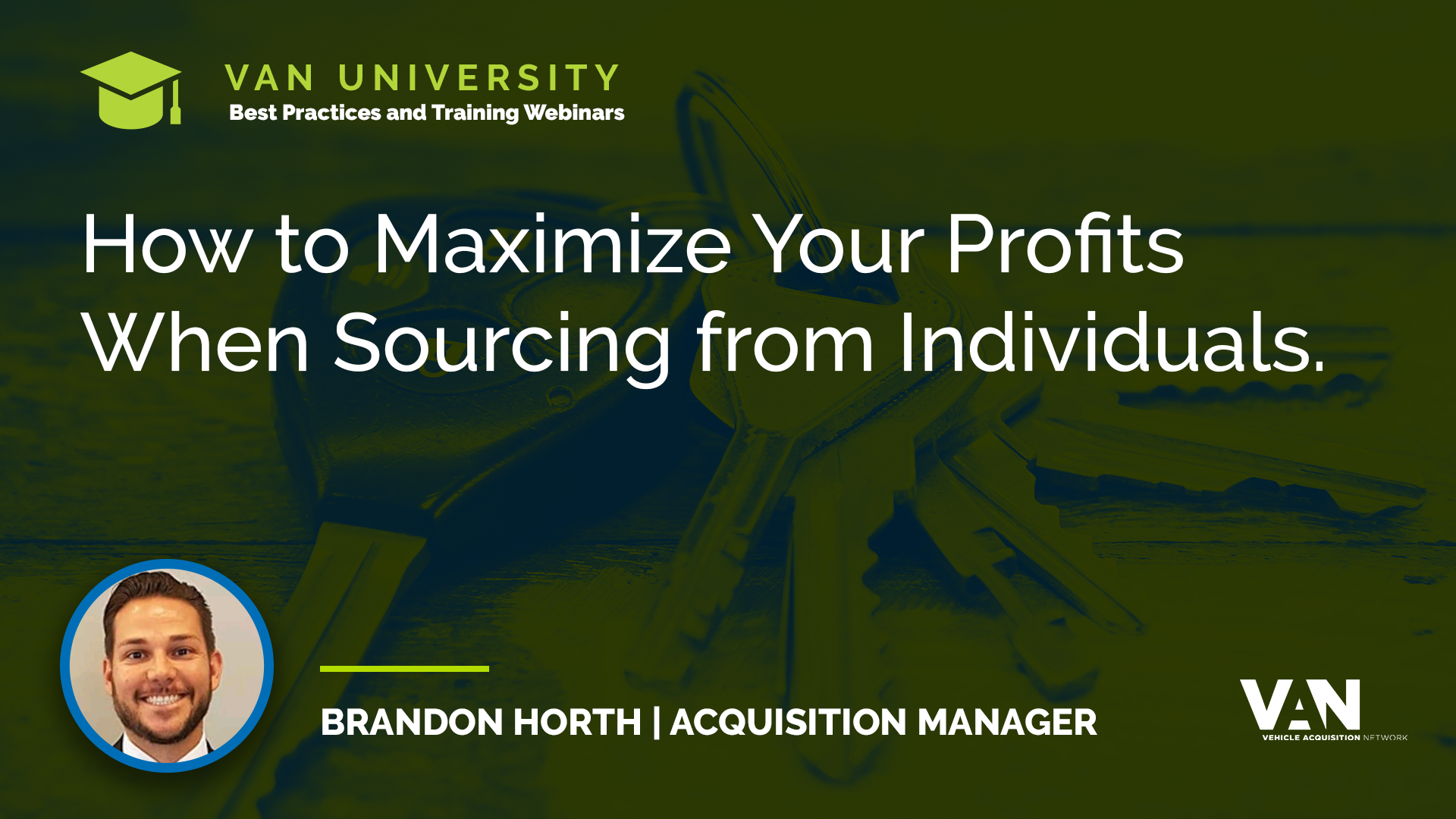 How to maximize your profits when sourcing used vehicles from consumers