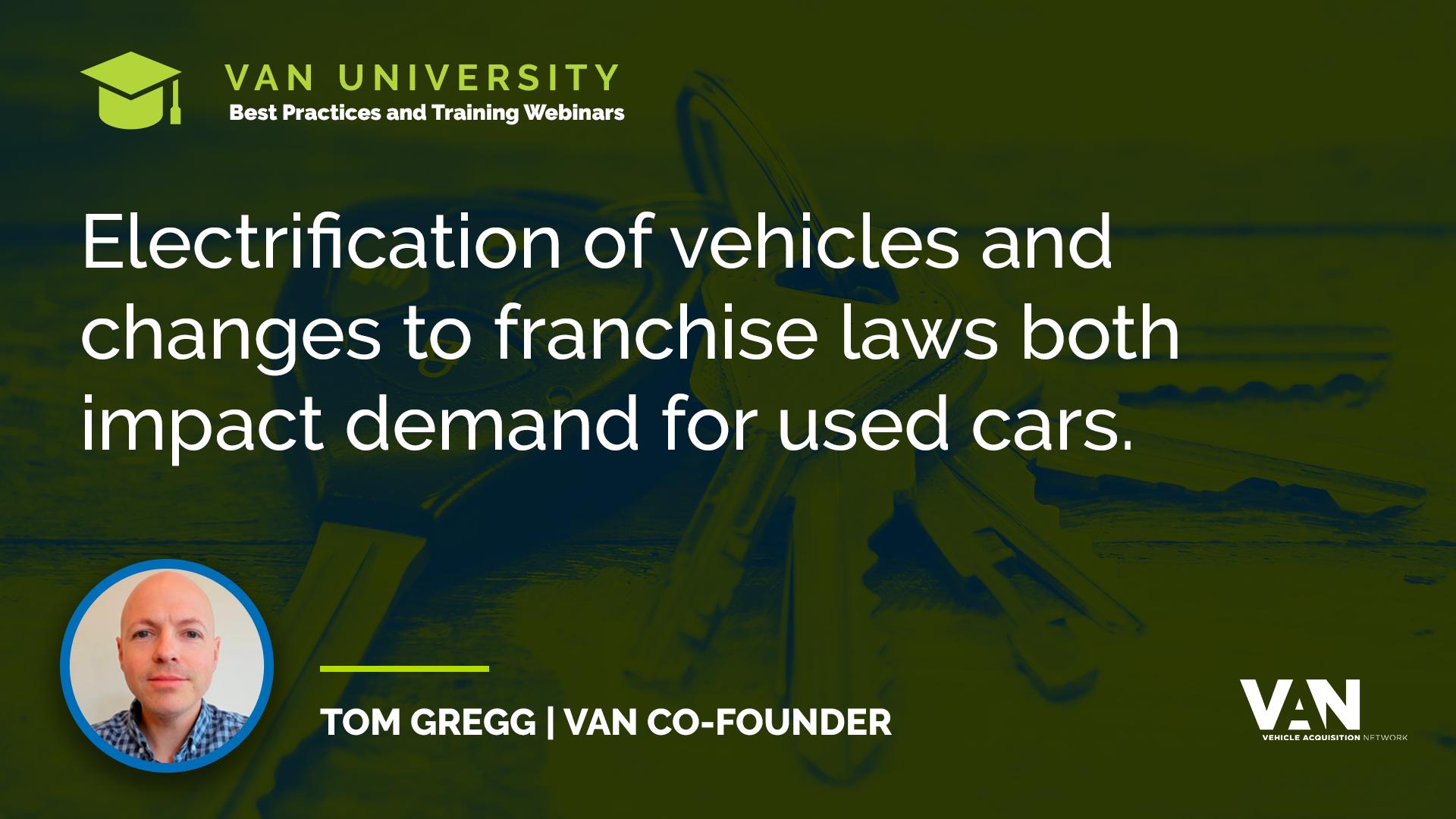 VAN Co-Founder Tom Gregg on demand for used cars